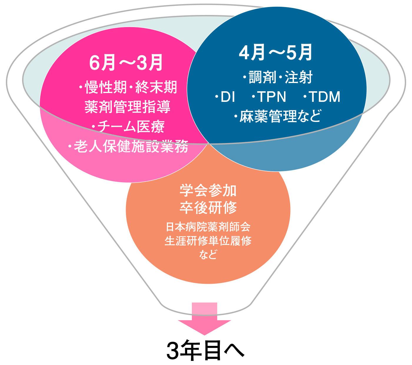 薬剤師新人教育スケジュール(2年目)~慢性期・終末期・ケアミックス病院での教育~